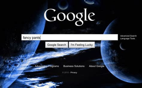 Google Search Homepage Gets Bing Like Backgrounds