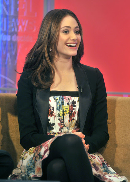 Emmy Rossum - Emmy Rossum Visits FOX & Friends