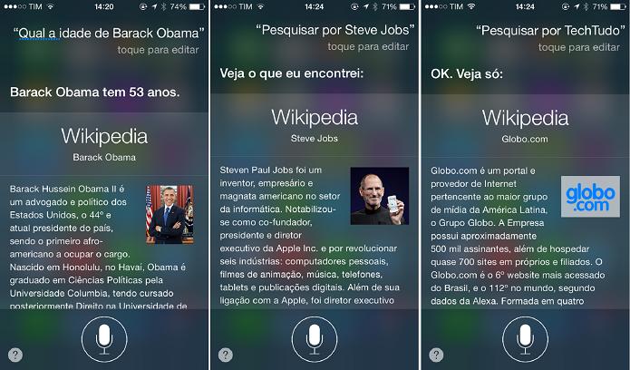 A Siri pode te dar um conjunto enorme de informações (Foto: Felipe Alencar/TechTudo)