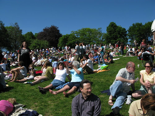 the crowd on the hill