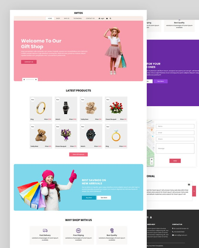 Giftos – Gift eCommerce Shop Template