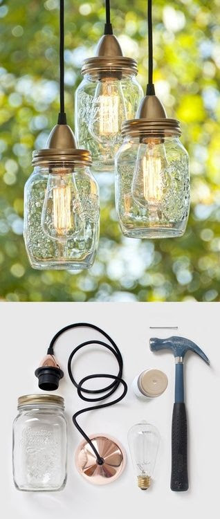 DIY Mason Jar Lamps ♥ Found here! Click here for more DIY… | DIY Glory
