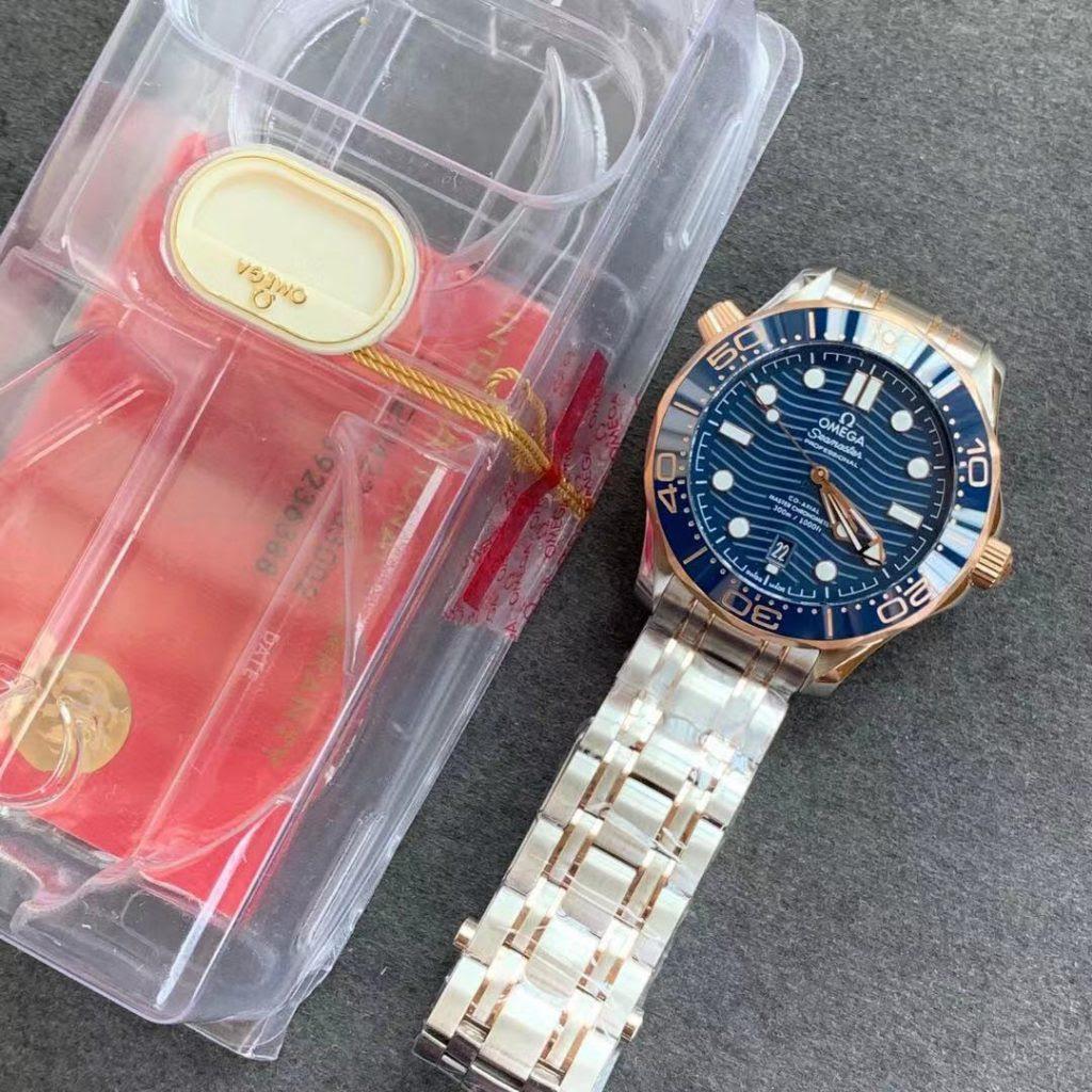 Omega Seamaster Two Tone Blue