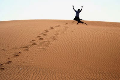 cambiando en el desierto