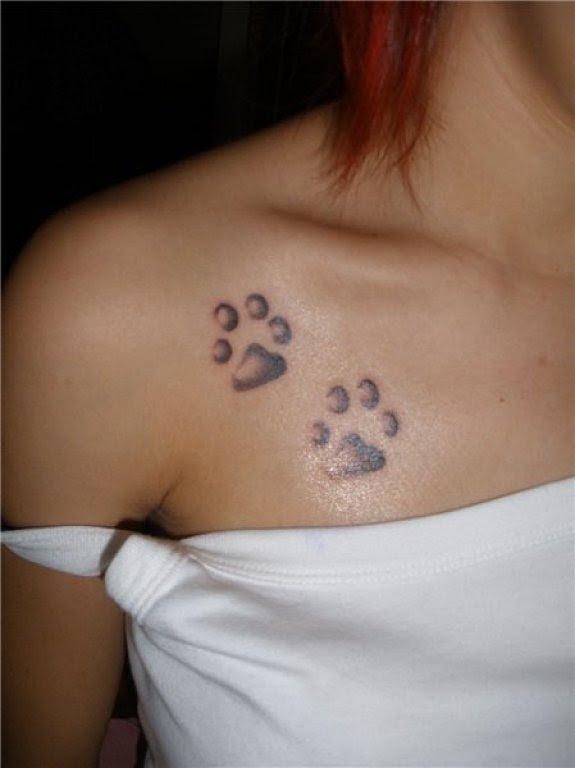 Tatuaje De Huellas De Gato Imagui