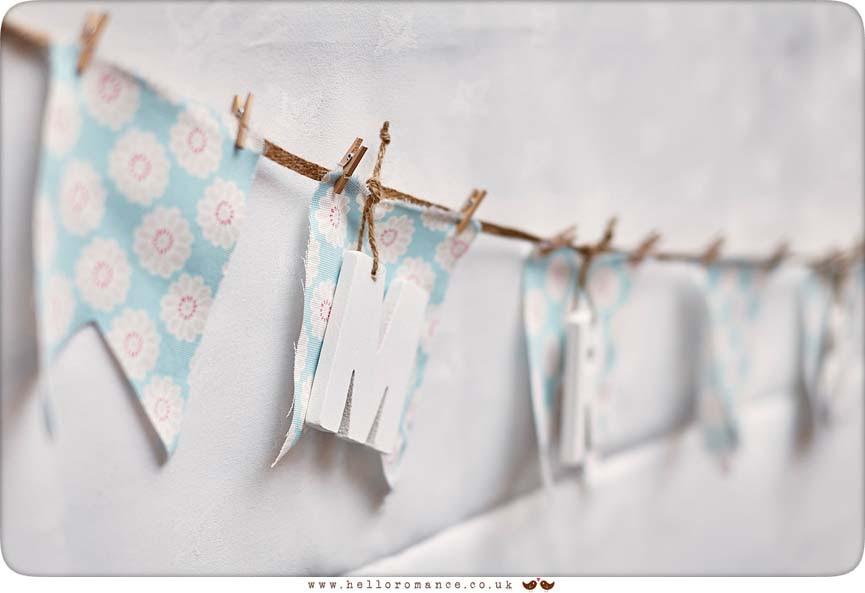 Bunting, vintage wedding decorations - www.helloromance.co.uk