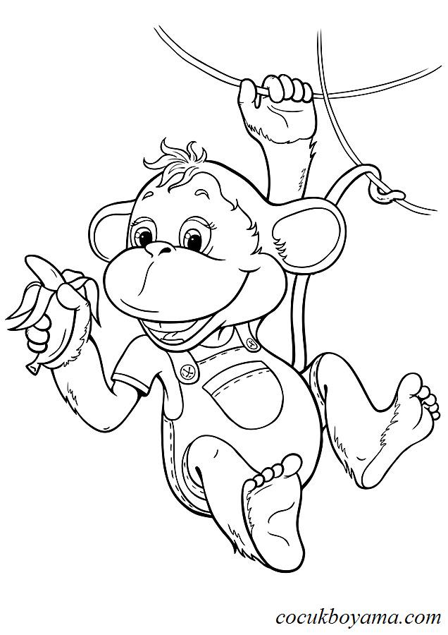 Maymun 22 ücretsiz Boyama Resimleri