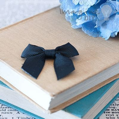 Adhesive bow black stick on bow diy wedding stationery