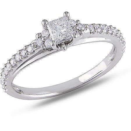 Miabella 1/2 Carat T.W. Princess and Round Cut Diamond