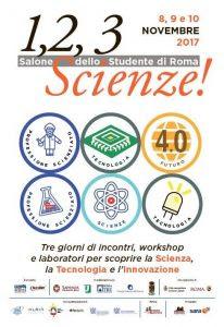 Risultati immagini per Parte domani alla Fiera di Roma 1 2 3 Scienze!