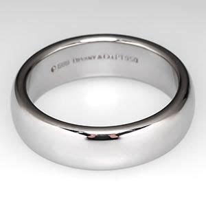 Mens Tiffany Lucida Wedding Band Ring 6mm Wide Platinum