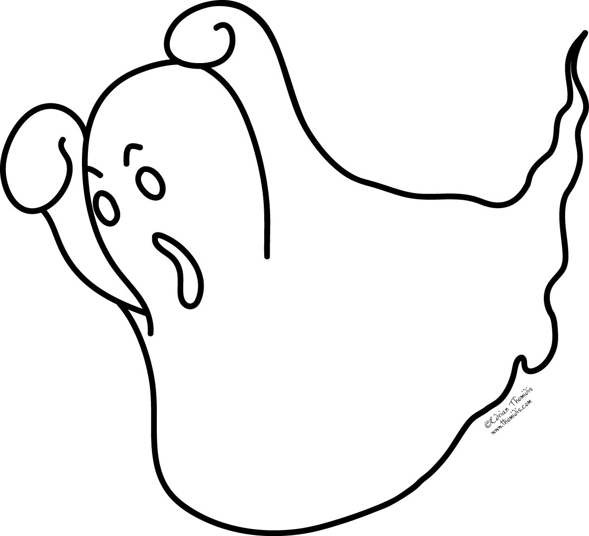 Ghost Coloring Pages To Download And Print For Free Coloring Pages