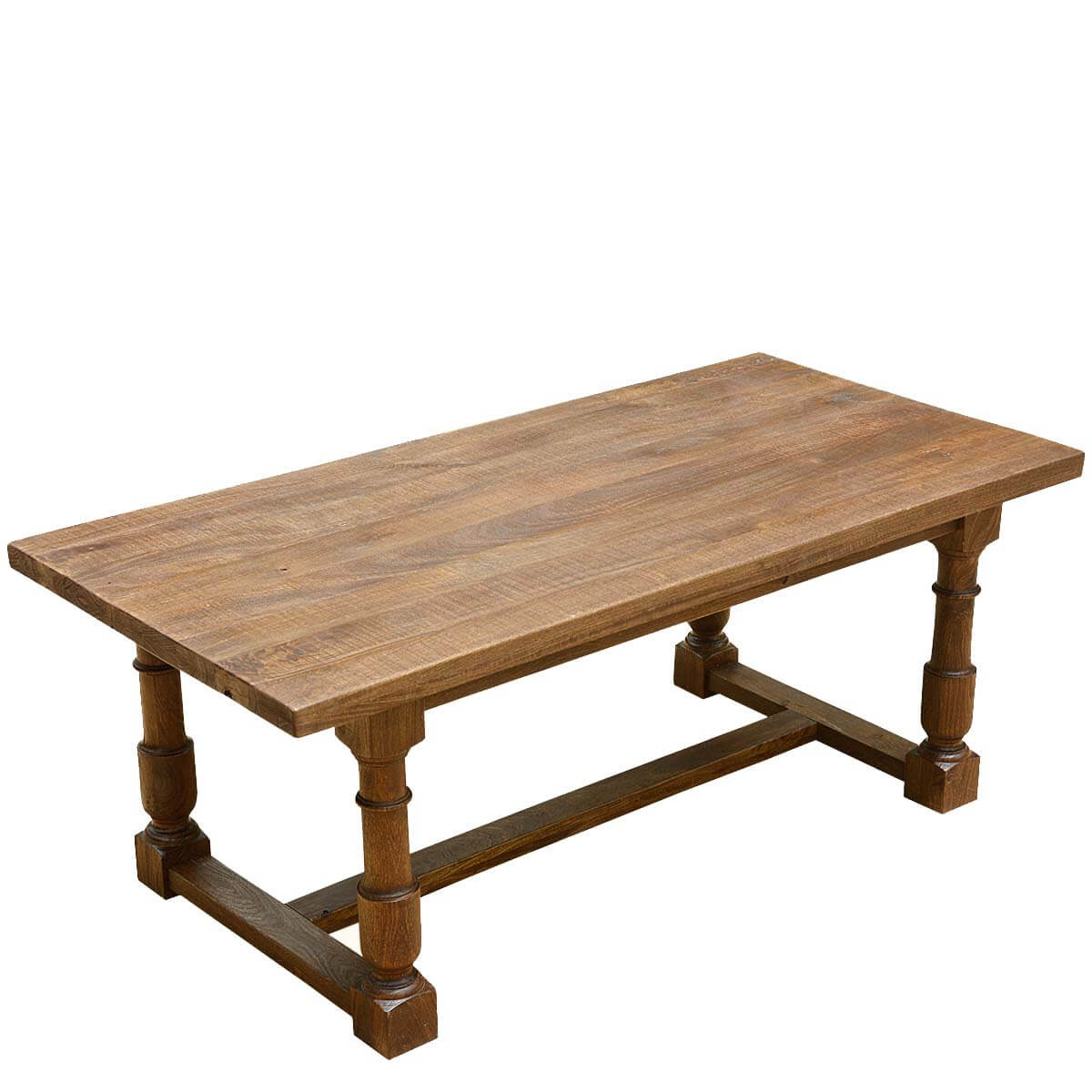 Large Solid Mango Wood Nelson 79\u0026quot; Dining Table with Turned Legs