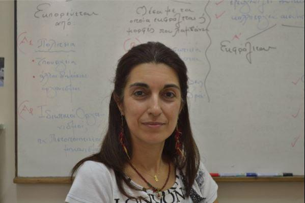 """Η φιλόλογος Ρούλα Βουράκη από το φροντιστήριο """"Παλλάδιον"""""""