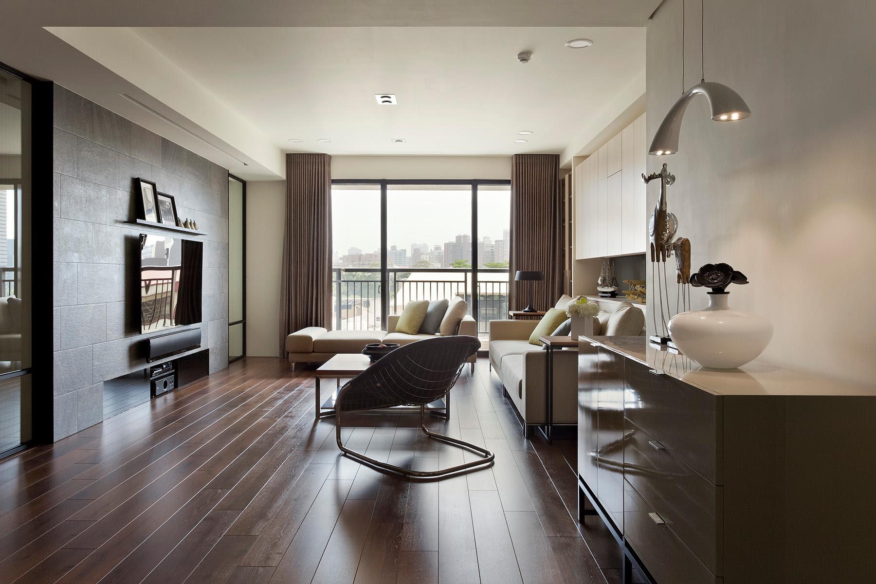 Brown cream living room | Interior Design Ideas.