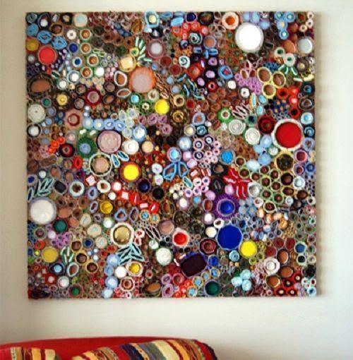 Cuadro con materiales reciclados de L.Gainer