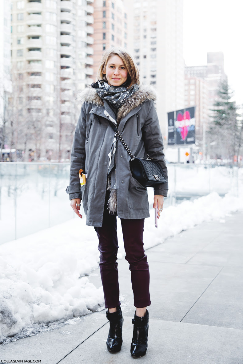 New_York_Fashion_Week-Street_Style-Fall_Winter-2015-Jessica_Minkoff-Leather_Trousers-Parka-