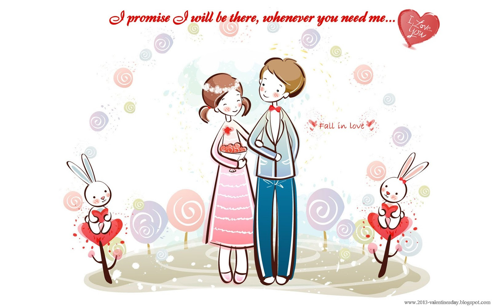snooprzgirl Cute Cartoon Couple Love Hd wallpapers for Valentines day