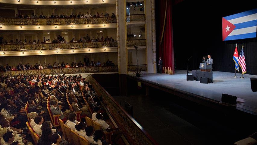 Obama en el gran Teatro de La Habana