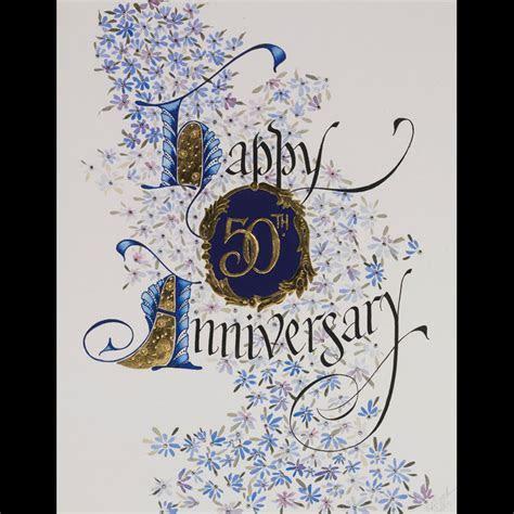 23ct Gilded Happy Anniversary 50