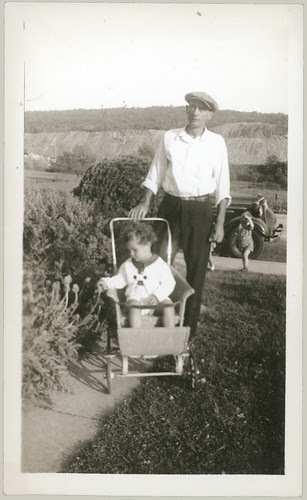 Man with child in stroller
