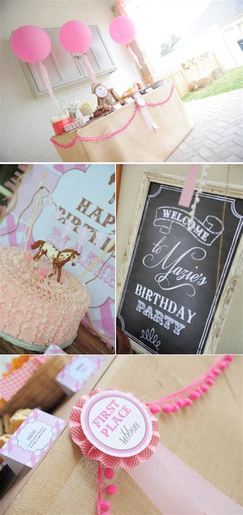 Kara's Party Ideas Pink Brown Pony Girl Birthday Party