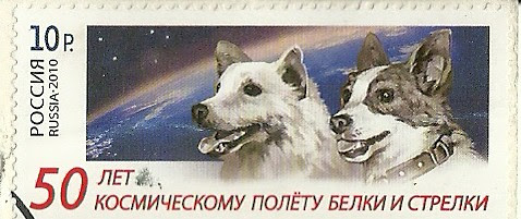 50th Anniversary of the Space flight of Belka and Strelka - 2010 by audiopineapplepostcards