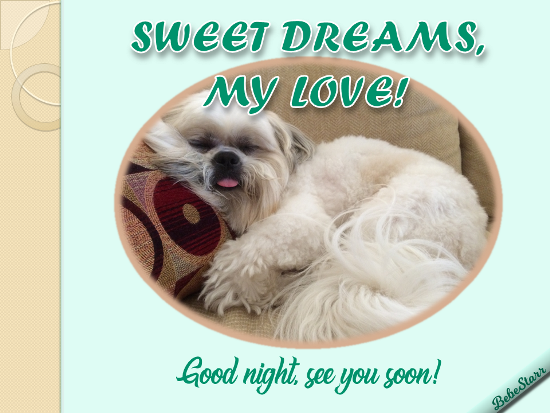 Sweet Dreams My Love Free Good Night Ecards Greeting Cards 123