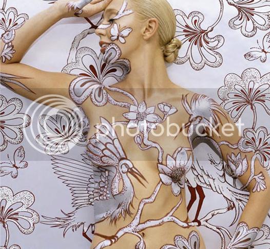 Emma Hack's Body Art Wallpaper 1