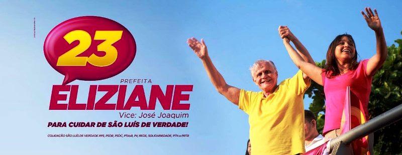 A imagem de Eliziane ao lado de José Joaquim já é uma das mais fortes na internet