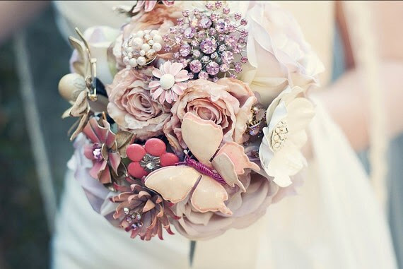 Design Your Own Modern Brooch Bouquet DIY - Send Me Your Pieces