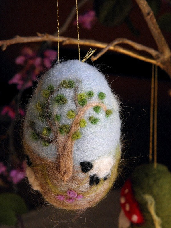 Needle Felted Easter Egg- Made to Order