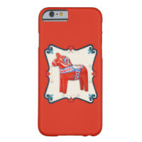 Swedish Dala Horse Scandinavian Folk Art Barely There iPhone 6 Case