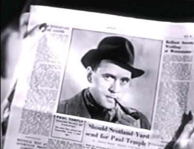 Send for Paul Temple: newspaper