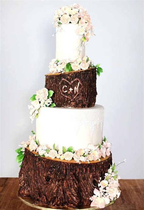 1000  ideas about Birch Wedding Cakes on Pinterest