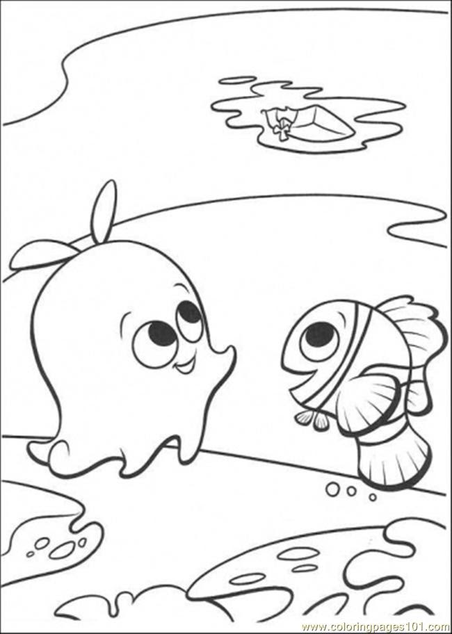 Coloring Sheets Disney Nemo All Round Hobby