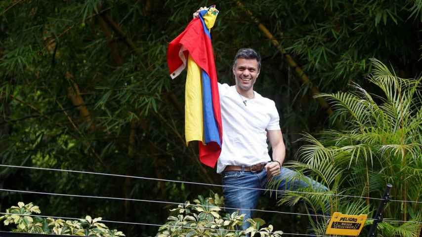 Leopoldo López en su casa de Caracas.