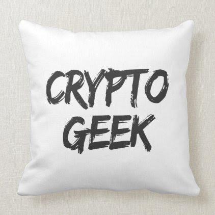 Crypto Geek Print Throw Pillow