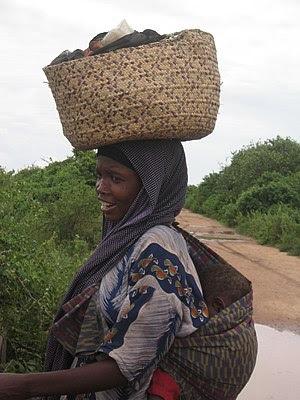 Bantu woman near Jamaame, southern Somalia