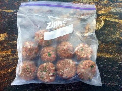 Meatballs in Freezer Bag