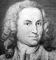 Portrait of Bach around 1720