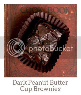 """Dark Peanut Butter Cup Brownies"""