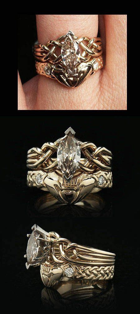 The Celtic puzzle engagement ring with Celtic claddagh