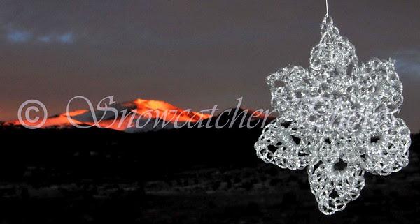 Silverheels Snowflake and sunrise on Mount Silverheels