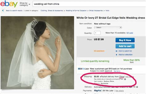 Tips for buying eBay wedding dresses or accessories made