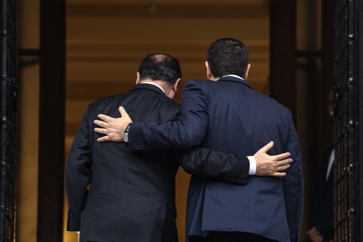 Meeting between Greek PM Alexis Tsipras and French President Francoise Hollande, at Maximos Mansion, in Athens, on Oct. 23, 2015 / Συνάντηση του Αλέξη Τσίπρα με τον Φρανσουά Ολάντ, στο Μαξίμου, στις 23 Οκτωβρίου, 2015
