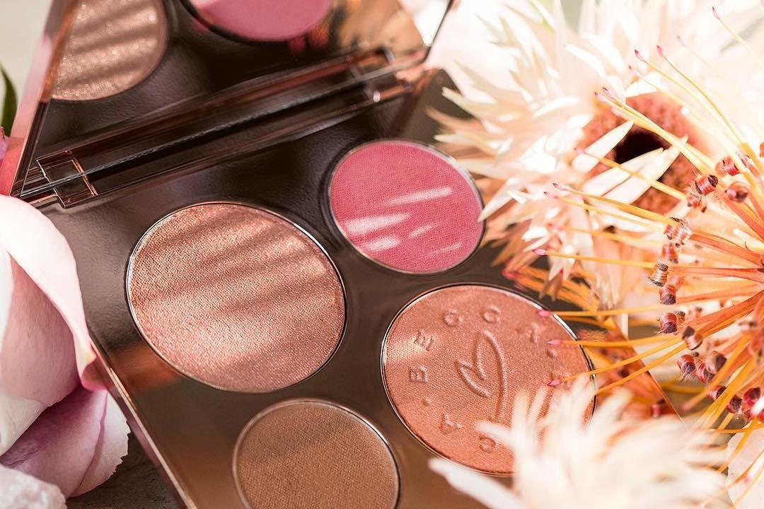 Becca X Chrissy Teigen Glow Face Palette Swatches