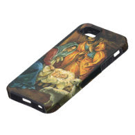 Vintage Christmas Nativity, Baby Jesus in Manger iPhone 5 Case