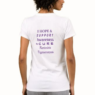 Retinitis Pigmentosa Purple Awareness Ribbon Shirt