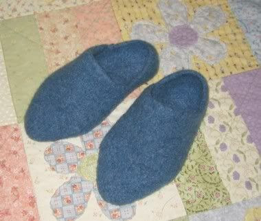 Felted Slippers, Top View